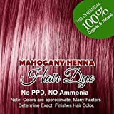Henna Hair Color – 100% Organic and Chemical Free Henna for Hair Color Hair Care Mahogany Henna Henna Hair Dye 180 Grams (3 Pa...