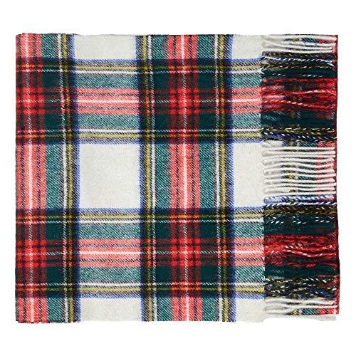 Oxfords Cashmere Bufanda de lujo de tartán de lana de cordero pura