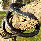 Kasstino 130cm Realistic Rubber Snake Toy Garden Props Joke Prank Gift Wild Reptile Kid