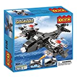 #1: Babytintintm Cogo Block Brick Toys Skybolt Air And Sea 3 In 1 Fighter Bombers Jet Boat Triad Deformation Building Blocks