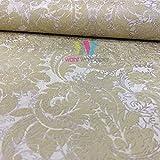 Marburg Empire Prag Damask Muster Tapete Texturiert Vlies Metallisches Motiv - Sand 57476