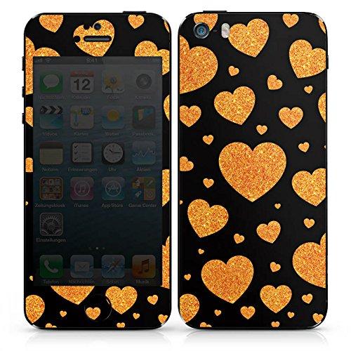 Apple iPhone SE Case Skin Sticker aus Vinyl-Folie Aufkleber Liebe Love Herz Muster DesignSkins® glänzend