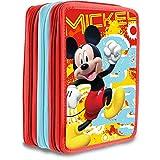 Mickey Mouse Federtasche dreifach gefüllt
