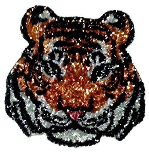 Toppe Toppa grandi tigre strass termoadesive da cucire termoadesive Patch strass termoadesiva ' tigre strass grandi 22 x 20 cm '