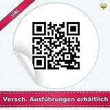 24 Aufkleber / Etiketten / Sticker | mit einem Wunsch QR Code » Funktion: URL (www.deine-domain.de) | Rund | Ø 40 mm | Schwarz/Weiß | FQR001-url | CuteLove & Head-Beat
