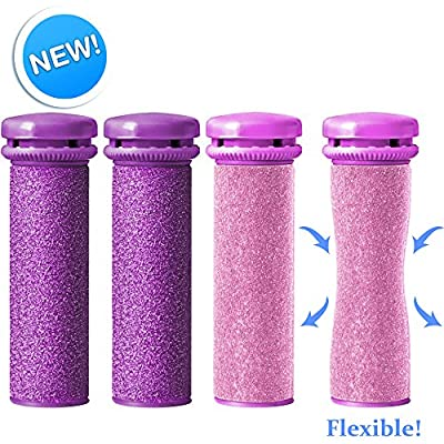Emjoi Micro-Pedi SoftFLEX Compatible Refill Rollers (Xtreme & Extra Coarse) - Pack of 4