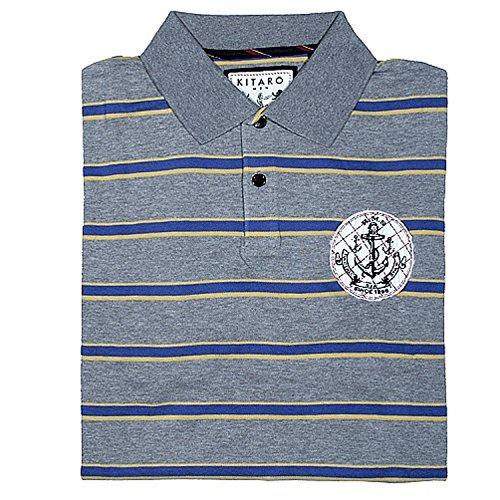 Kitaro, kurzarm Polohemd Poloshirt, 191629, flanell grau meliert [3305] Flanell
