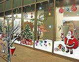 """UfingoDeco XLarge """"Feliz Navidad"""" Santa Claus Árbol de Navidad Medias de Navidad y Regalos de la Navidad Pegatinas de Pared, Sala de Estar Dormitorio Vitrinas Removible Etiquetas de la pared / Murales, Juego de 2 Hojas"""