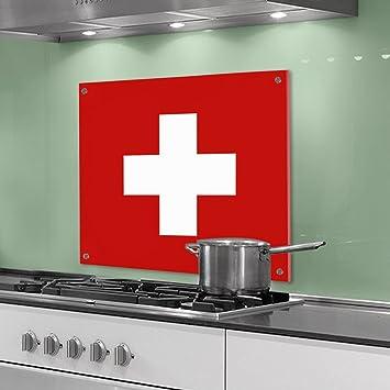 Indietro Cucina parete di plexiglass - motivo croce svizzera ...