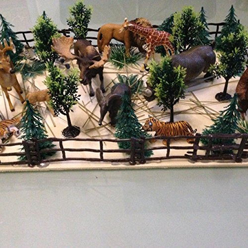 53 stk Für Schleich Farm Stall Pferdestall Kuhstall Zäune Bäume Zubehör Pferd