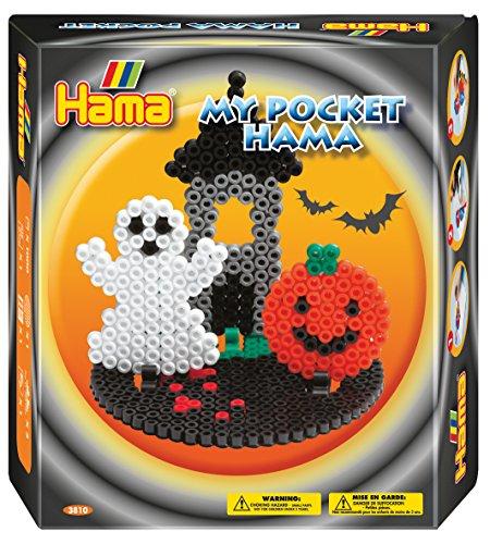 Hama 3810 - Original Bügelperlen - My Pocket - Halloween, ca. 1000 Perlen, 1 Stiftplatte, 3 Motivstützen und ()