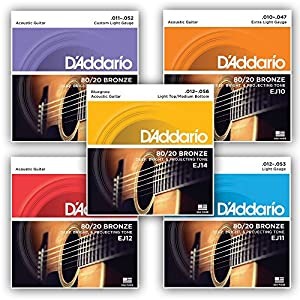 D'Addario 80/20 Bronze Wound Acoustic Guitar Strings