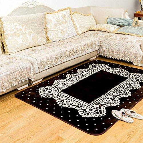 Teppiche Aufrichtigkeit traditionellen Läufer, Plüsch gedruckt Spitze Teppich Wohnzimmer Badezimmer Schlafzimmer Balkon Teppich Anti-Rutsch-Staub schmutzig - Gedruckt Badezimmer-teppiche