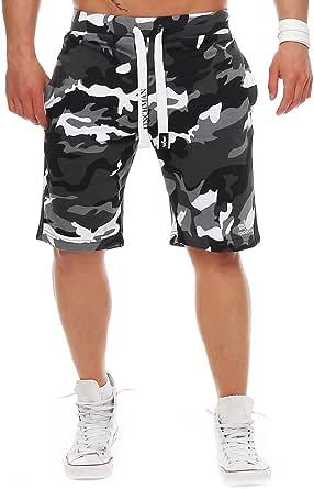 FINCHMAN 81V5 Herren Cotton Sweat Short Kurze Hose Bermuda Camo Grau XL