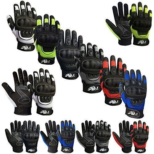 Prime Ganzer Finger Motorrad Sport Reiten Mountainbike Schutz Sommer Handschuhe 9001 - Schwarz, Medium