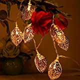 #6: Golden Metal Leaf String 20- LED Decorative Lights - Diwali Festival Christmas Home Decoration