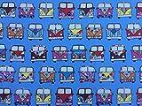Prestige Stoffe cp0200VW Camper Vans Print Baumwolle