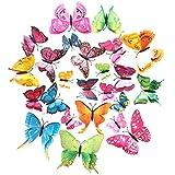 Adesivi Murali Farfalle Set di 12 Pcs Adesivi 3D da Parete della Decorazione Casa Adesivo Creativo Fai da te