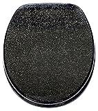 Glitter Toilet Seat Range Novelty Glitzy Sparkle Resin Bathroom Soft Slow Close Black Glitter