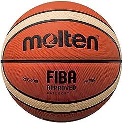 MOLTEN BGMX - Balón de Baloncesto Senior Masculino, Naranja y Marrón Claro, Talla 7