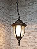 Antik-Goldene Energiespar-Hängeleuchte für Aussen 11 Watt Pendelleuchte