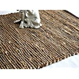 Homescapes - Leather Hemp - Runner - Brown - 66x200cm - Recycled - Eco Friendly - 100% Natural rug - Hall Runner