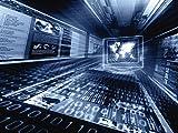 Artland Qualitätsbilder I Alu Dibond Bilder Alu Art 40 x 30 cm Technik Wissenschaft Geräte Werkzeuge Digitale Kunst Blau A5NW Internet Konzept
