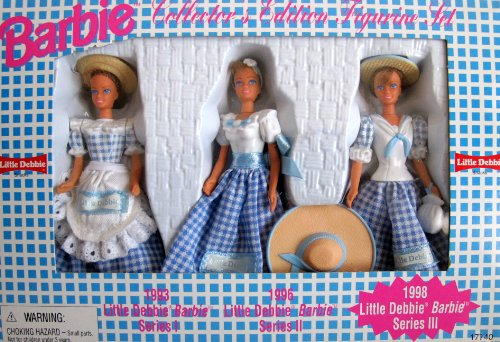 barbie-collector-edition-little-debbie-figurine-set-series-111-w-3-dolls-each-4-1-2-tall-1997