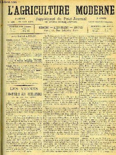 L'AGRICULTURE MODERNE N° 226 - Hippolyte Gomot : Subventions aux viticulteurs et la loi de 1887.