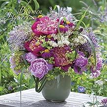 Blumen 2018 - Flowers - Broschürenkalender (30 x 60 geöffnet) - Wandplaner
