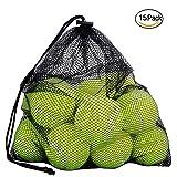 Tennisbälle, Ciaoed15 Pack Sport Spielen Cricket Dog Toy Ball mit Mesh-Tragetasche, robust und langlebig, ideal für Unterricht, Praxis, Wurfmaschinen & Spielen mit Haustieren
