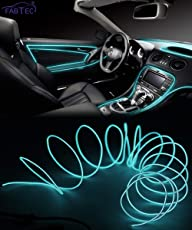 FABTEC EL Wire Car Interior Light Ambient Neon Light for Cars With Adapter (Ice Blue, 3 Meter)