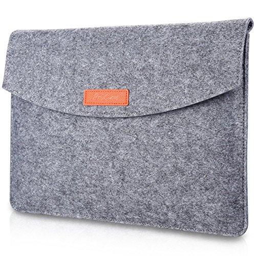 ProCase 9.7-10.1 Zoll Hülsenkoffer, Tragbarer Filz Tragender Schutzhülle Tasche für iPad Pro 11 2018/9, Apple iPad Pro/iPad Air 2 / Air, 9 9,7 10 10,1 Zoll Tablette, Galaxy Tab S2 9.7 -Grau