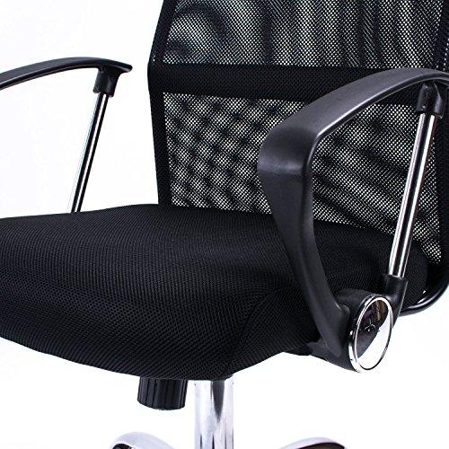 61Yq4MrJOcL - Poptoy - Silla de escritorio giratoria con respaldo alto con malla y altura ajustable para el hogar y la oficina