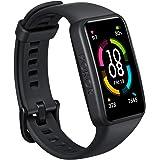 HONOR Band 6 Fitness Tracker för Android iOS, AMOLED-Skärm Vattentät Smart Watch med Sömnmonitor Pulsmätare Stegräknare Kalor