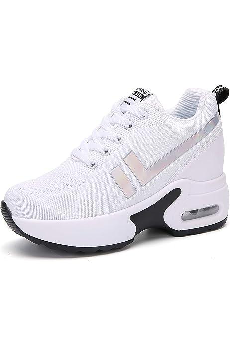 AONEGOLD® Zapatillas de Cuña para Mujer Zapatillas de Deporte ...