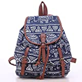 Leefrei casual Canvas Damen Herren Rucksack Daypack Backpacks Freizeitrucksack Schulrucksack Schultasche