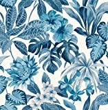 Fine Décor FD42472 UK Tropica Rainforest Blue Papier Peint, Bleu