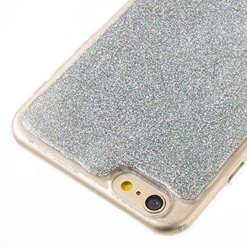 Soft Flexible Silikon TPU Gel Cover Case [Anti-Kratzer] Glänzende Glitter 360 ° Full Coverage Back Cover [Shockproof] für iPhone 6 Plus & 6s Plus ( Color : Green ) Silver