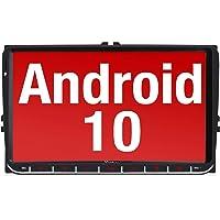 Vanku Android 10 Autoradio für VW Radio mit Navi 9 Zoll Touchscreen Unterstützt Qualcomm Bluetooth 5.0 DAB + WiFi 4G…