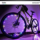 Bodyguard Bike Wheel Lights - Auto Open and Close - Ultra Bright 20 LED Bicycle Spoke Light, Bicycle Tire Accessories (1 pack) - Waterproof - Colorful
