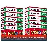 AgfaPhoto Vista plus 400 135-24 Negativ Film für Papierbilder (10-er Packbis zu 240 Aufnahmen) - gut und günstig