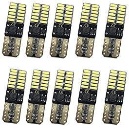 Fastcar 10pcs T10 led canbus W5W lampadine 24 leds 4014SMD Luci di posizione Piastra lampada auto Gioca Car interno 6000k 12V