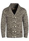 !Solid Prewitt Herren Strickjacke Cardigan Grobstrick Winter Pullover mit Schalkragen, Größe:L, Farbe:Coffee Bean (5973)