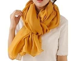 WKTRSM Bufandas Mujer Invierno Estolas Elegantes Fulares Moda Larga Grandes Suave Chales Mantón para Primavera Otoño Invierno