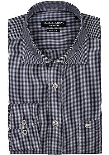 CASAMODA Regular Fit Hemd extra langer Arm Karo dunkelblau/weiß 006269/101 AL 69 KD Karos dunkelblau