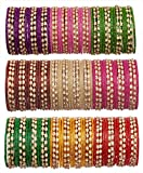 Multicolor glass bangles for women tradi...