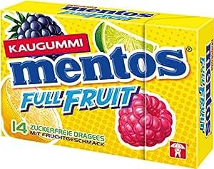 Mentos Gum Full Fruit Pocketbox, 9er Pack (9 x 28 g)