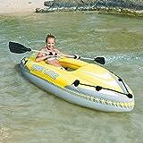 BESTWAY Kajak Wave Kanu Schlauchboot Ruderboot Paddel Boot mit Ruder 280x75cm