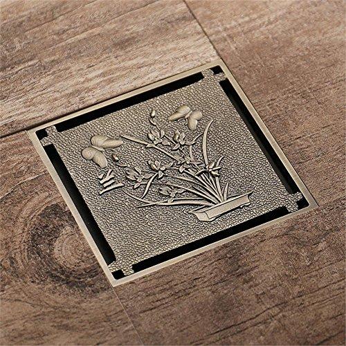 Drain-hardware (Haixng Antike Boden Drain-große Anti-stinkende Bronze Badezimmerboden Drain Größe 100mmx100mm)